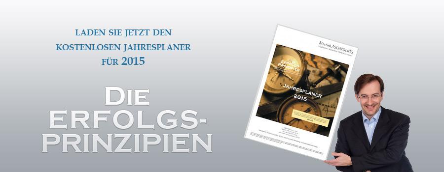 """Der Jahresplaner für """"Die Erfolgsprinzipien"""" - jetzt kostenlos herunterladen"""